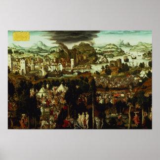 El juicio de París y de la guerra de Troya, 1540 Póster