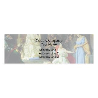 El juicio de rey Solomon de Nikolai GE Tarjetas De Visita Mini