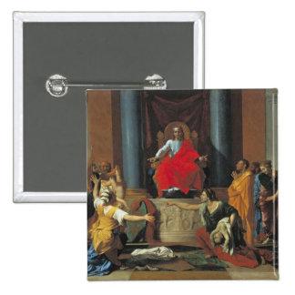 El juicio de Solomon, 1649 Pin Cuadrado