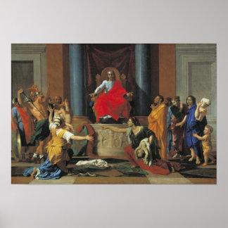 El juicio de Solomon, 1649 Póster