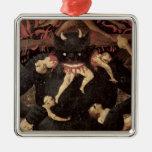 El juicio pasado, detalle de la voracidad de Satan Ornamento Para Arbol De Navidad