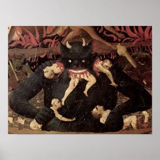 El juicio pasado, detalle de la voracidad de Satan Poster