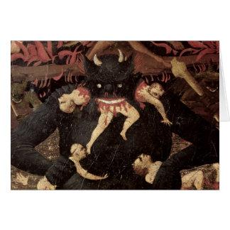 El juicio pasado, detalle de la voracidad de Satan Tarjeta De Felicitación