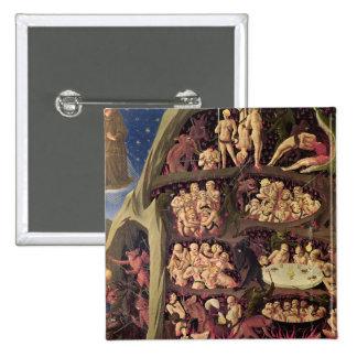 El juicio pasado, detalle del infierno, c.1431 pin cuadrada 5 cm