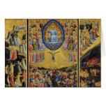 El juicio pasado en el altar con alas por Fra Ange Tarjeta