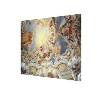 El juicio pasado, pintura del techo impresión en lona estirada