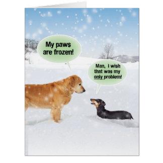 El jumbo mis patas es tarjeta de Navidad congelada