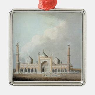 El Jummah Musjed, Delhi, placa XXIII de 'Oriente Adorno Navideño Cuadrado De Metal