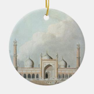 El Jummah Musjed, Delhi, placa XXIII de 'Oriente Adorno Navideño Redondo De Cerámica