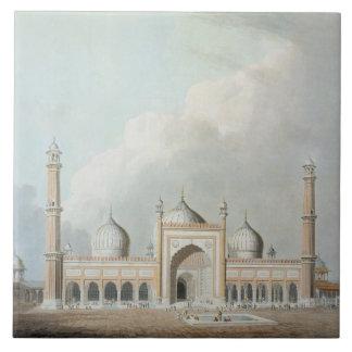 El Jummah Musjed, Delhi, placa XXIII de 'Oriente Azulejo Cuadrado Grande