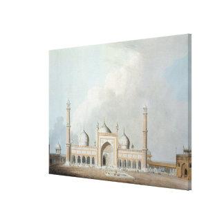 El Jummah Musjed, Delhi, placa XXIII de 'Oriente Impresiones En Lienzo Estiradas