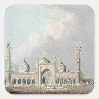 El Jummah Musjed, Delhi, placa XXIII de 'Oriente Pegatina Cuadrada