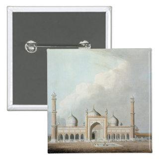 El Jummah Musjed, Delhi, placa XXIII de 'Oriente Pin Cuadrada 5 Cm