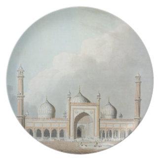 El Jummah Musjed, Delhi, placa XXIII de 'Oriente Plato De Cena