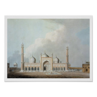 El Jummah Musjed, Delhi, placa XXIII de 'Oriente Póster