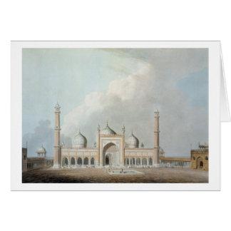 El Jummah Musjed, Delhi, placa XXIII de 'Oriente Tarjeta De Felicitación