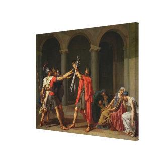 El juramento de Horatii, 1784 Impresión En Lona