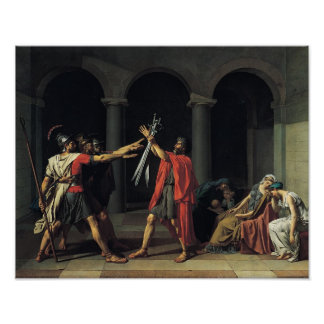 El juramento del Horatii Póster