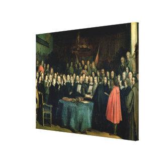 El jurar del juramento de la ratificación lona estirada galerías