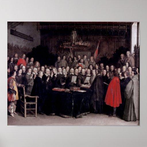 El jurar del juramento de la ratificación póster
