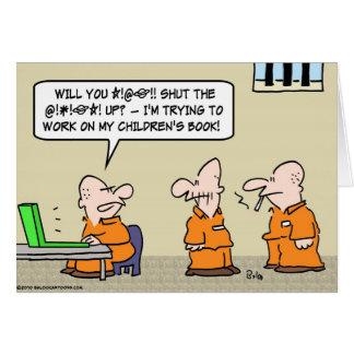 el jurar del preso del libro de niños tarjeta de felicitación