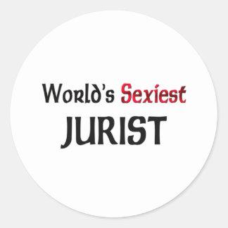 El jurista más atractivo del mundo pegatinas redondas
