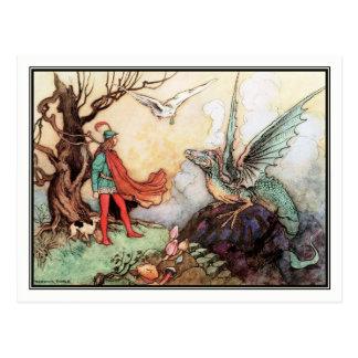 El justo de Warwick Goble Tarjetas Postales