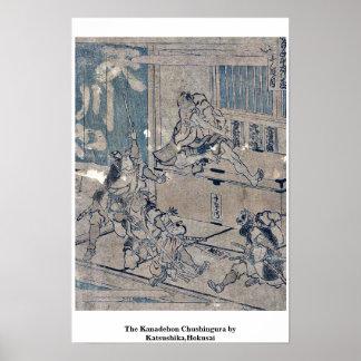 El Kanadehon Chushingura por Katsushika, Hokusai Posters