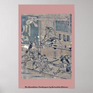 El Kanadehon Chushingura por Katsushika, Hokusai Poster