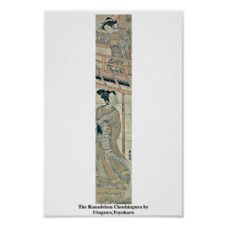 El Kanadehon Chushingura por Utagawa Toyoharu Impresiones