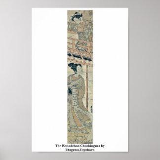 El Kanadehon Chushingura por Utagawa, Toyoharu Póster