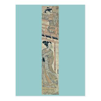 El Kanadehon Chushingura por Utagawa, Toyoharu Tarjetas Postales