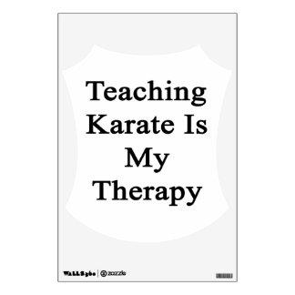 El karate de enseñanza es mi terapia