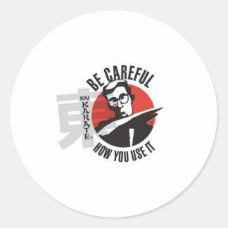 El karate de Hai tenga cuidado cómo usted lo utili Pegatina