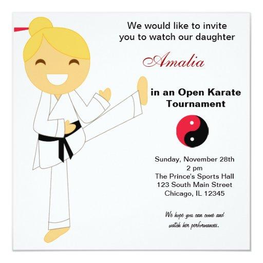 """El karate embroma el torneo invitación 5.25"""" x 5.25"""""""