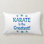 El karate es el más grande almohada
