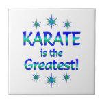 El karate es el más grande azulejo