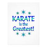El karate es el más grande comunicado personalizado