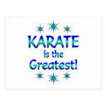 El karate es el más grande postal