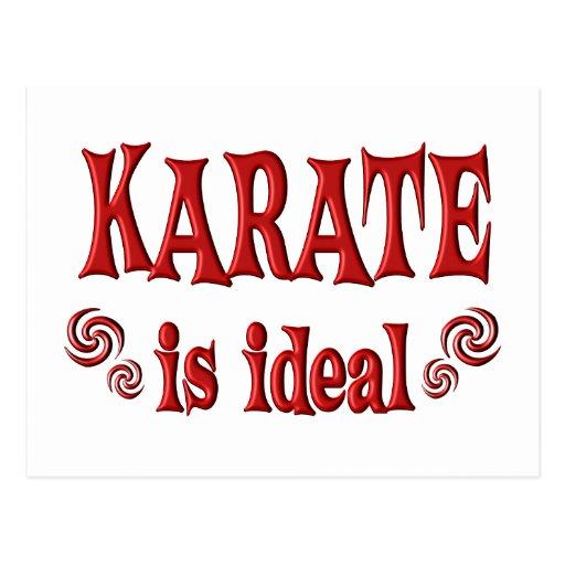 El karate es ideal tarjetas postales