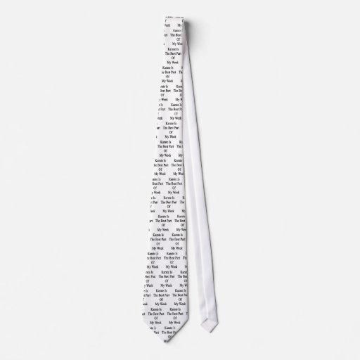 El karate es la mejor parte de mi semana corbata personalizada