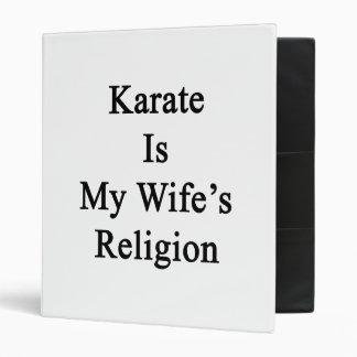 El karate es la religión de mi esposa