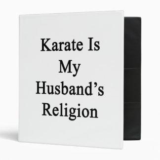 El karate es la religión de mi marido