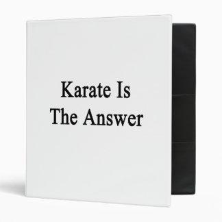El karate es la respuesta