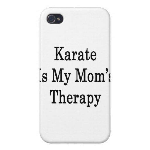 El karate es la terapia de mi mamá iPhone 4 cárcasa