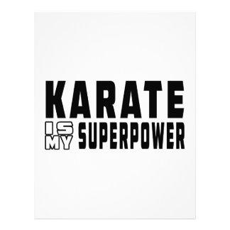 El karate es mi superpotencia plantilla de membrete