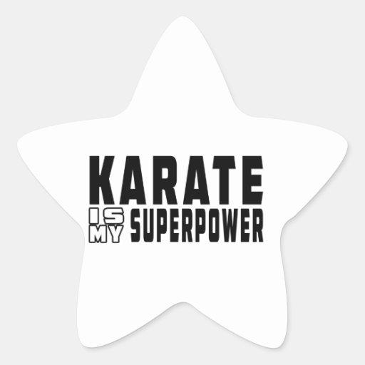 El karate es mi superpotencia calcomanía cuadrada personalizada