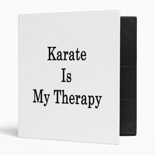El karate es mi terapia