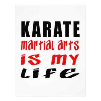 El karate es mi vida membrete personalizado
