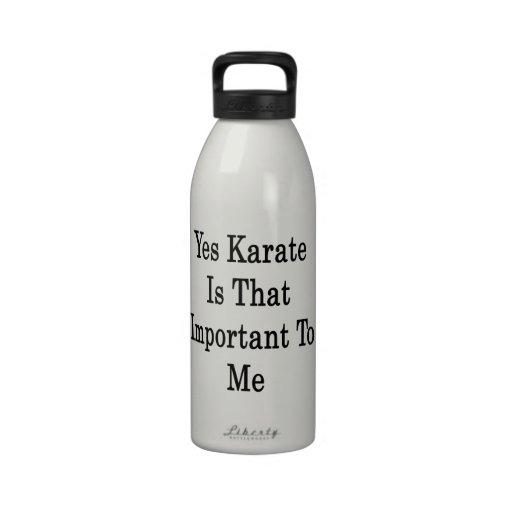 El karate es sí ése importante para mí botella de agua reutilizable